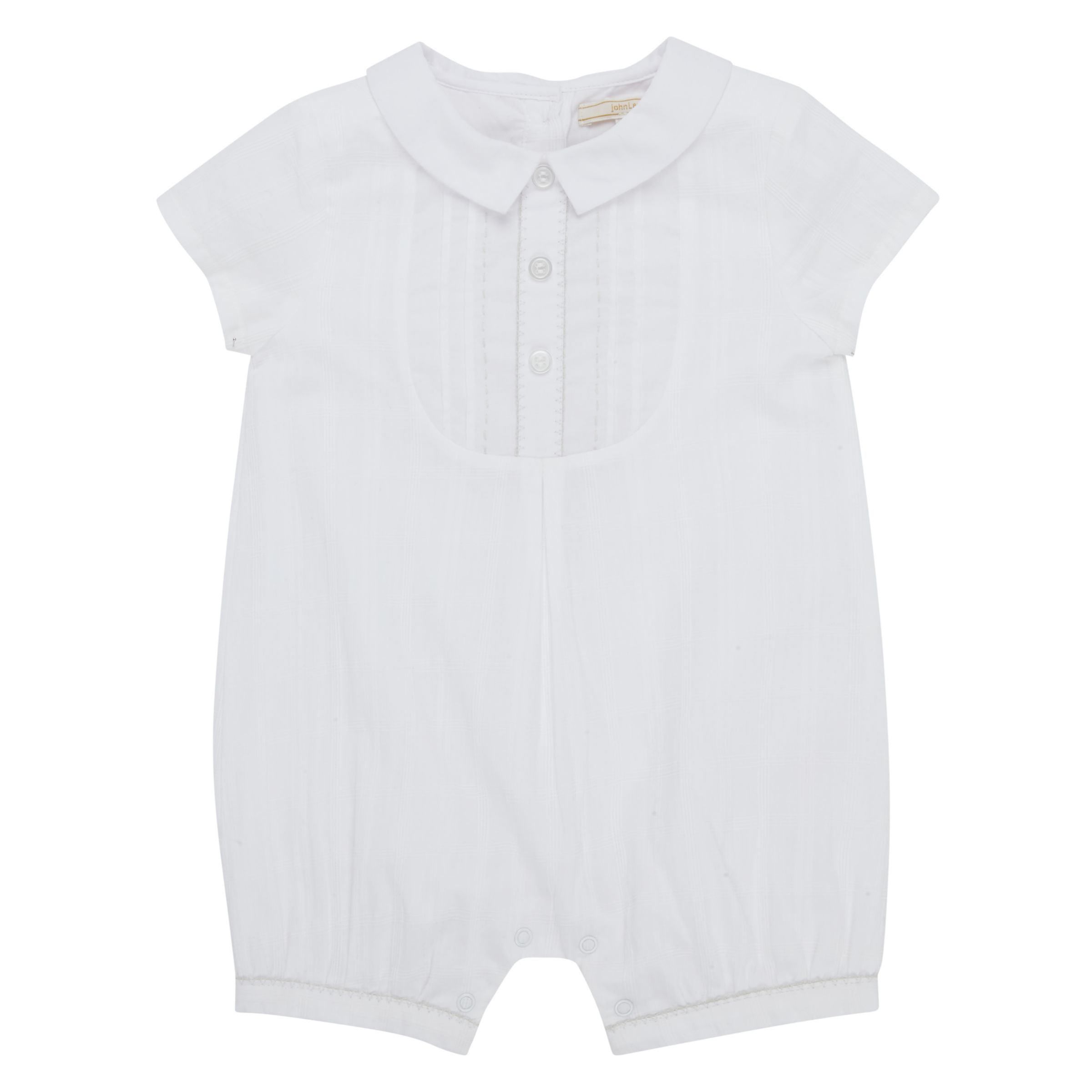 John Lewis Heirloom Collection John Lewis Heirloom Collection Baby Woven Romper, White
