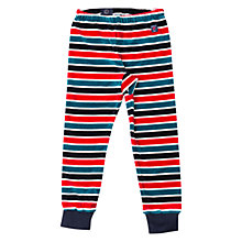 Buy Polarn O. Pyret Boys' Striped Velour Trousers, Dark Sapphire Online at johnlewis.com
