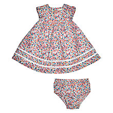 Buy John Lewis Heirloom Collection Baby Ditsy Dress and Knickers Set, Pink/Multi Online at johnlewis.com