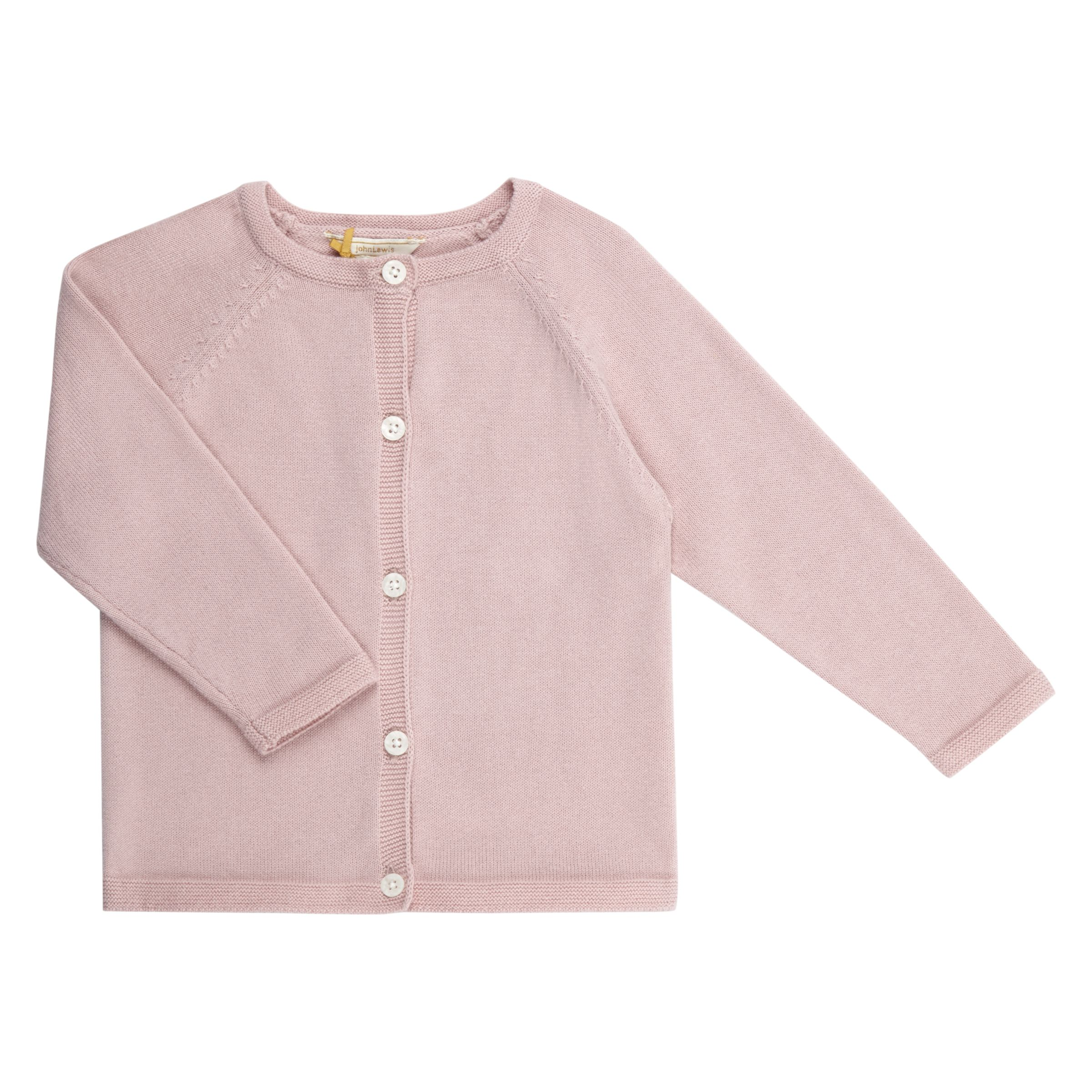 John Lewis Heirloom Collection John Lewis Heirloom Collection Baby Knit Cardigan, Lilac