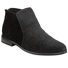 Buy Kin by John Lewis Pala Pointed Toe Ankle Boots, Black Hair on Hide Online at johnlewis.com