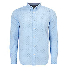 Buy John Lewis Smart Dobby Gingham Shirt, Blue Online at johnlewis.com