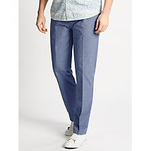 Buy John Lewis End on End Cotton Trousers, Blue Online at johnlewis.com