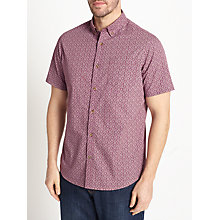 Buy John Lewis Print Short Sleeve Shirt, Purple Online at johnlewis.com