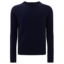 Buy JOHN LEWIS & Co. Tuck Stitch Lambswool Jumper, Navy Online at johnlewis.com