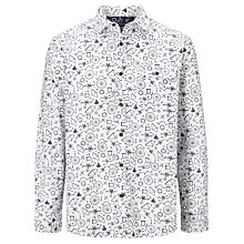 Buy John Lewis Bike Parts Print Shirt, White Online at johnlewis.com