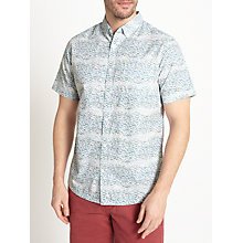Buy John Lewis Scuba Print Short Sleeve Shirt, Blue Online at johnlewis.com
