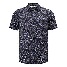 Buy John Lewis Bike Part Print Short Sleeve Shirt, Navy Online at johnlewis.com