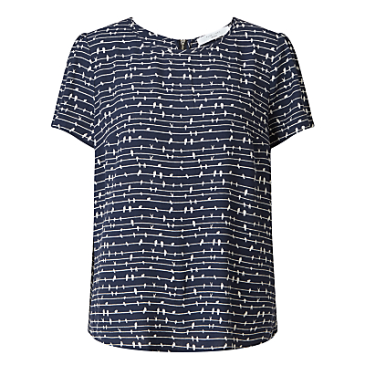 Collection WEEKEND by John Lewis Bird On A Wire Top, Navy/White