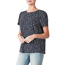 Buy Collection WEEKEND by John Lewis Bird On A Wire Top, Navy/White Online at johnlewis.com