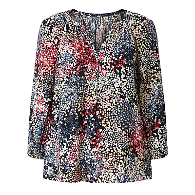 Collection WEEKEND by John Lewis Confetti Print Top, Black/Multi