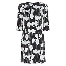 Buy Hobbs Chrissie Dress, Black Ivory Online at johnlewis.com