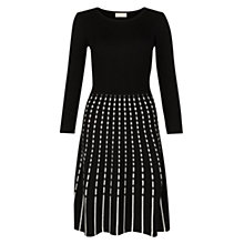 Buy Hobbs Marley Dress, Black/White Online at johnlewis.com