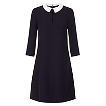 Buy Hobbs Kady Dress, Navy/Ivory Online at johnlewis.com