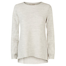 Buy Hobbs Elissa Jumper, Pale Grey Melange Online at johnlewis.com