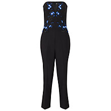Buy Miss Selfridge Embroidered Jumpsuit, Black Online at johnlewis.com
