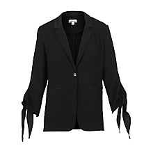Buy Whistles Tie Cuff Jacket, Black Online at johnlewis.com