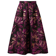 Buy Miss Selfridge Floral Jacquard Midi Skirt, Multi Online at johnlewis.com