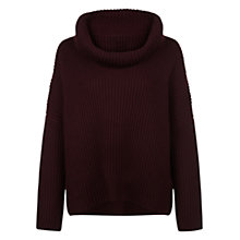 Buy Hobbs Anita Scoop Neck Jumper, Aubergine Red Online at johnlewis.com