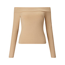 Buy Miss Selfridge Long Sleeve Bardot Top Online at johnlewis.com