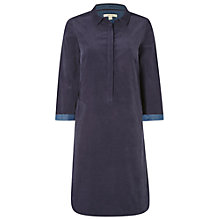 Buy White Stuff Suqi Cord Shirt Dress, Deep Dusky Blue Online at johnlewis.com