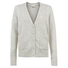 Buy Hobbs Girlfriend Cardigan, Pale Grey Melange Online at johnlewis.com