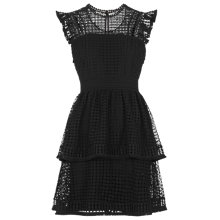 Buy Whistles Marlene Lace Panel Dress, Black Online at johnlewis.com
