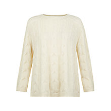 Buy Hobbs Rosa Jumper, Warm Ivory Online at johnlewis.com