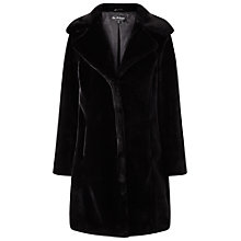 Buy Miss Selfridge Faux Fur Coat, Black Online at johnlewis.com