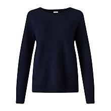Buy Jigsaw Max Twill Cashmere Jumper, Navy Online at johnlewis.com