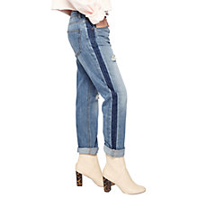 Buy Miss Selfridge Kitty Tonal Boyfriend Jeans, Mid Wash Denim Online at johnlewis.com
