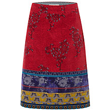 Buy White Stuff Merchant Velvet Skirt, Japanese Blue Online at johnlewis.com