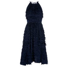 Buy Whistles Isla Feather Dress, Navy Online at johnlewis.com