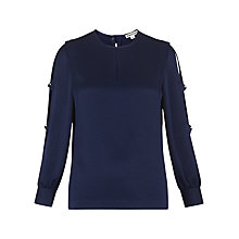 Buy Whistles Robyn Open Arm Top, Navy Online at johnlewis.com