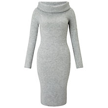 Buy Miss Selfridge Foldover Bardot Dress, Grey Online at johnlewis.com