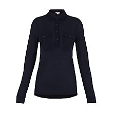Buy Whistles Jersey Shirt, Navy Online at johnlewis.com