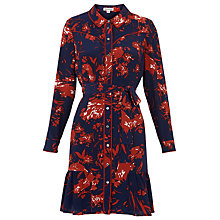 Buy Whistles Brushed Floral Silk Dress, Multi Online at johnlewis.com