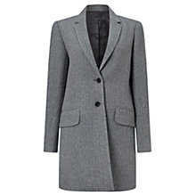 Buy Jigsaw Herringbone Wool City Coat, Navy Online at johnlewis.com