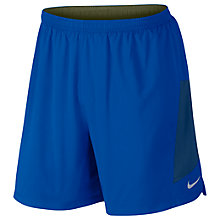 "Buy Nike Flex 7"" 2 in 1 Running Shorts, Paramount Blue/Legion Green Online at johnlewis.com"