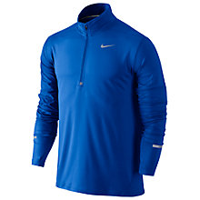 Buy Nike Dry Element Half-Zip Long Sleeve Running Top, Blue/Silver Online at johnlewis.com