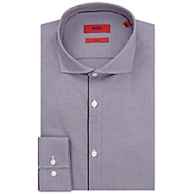 Buy HUGO by Hugo Boss C-Jimmy Mini Check Slim Fit Shirt, Dark Purple Online at johnlewis.com