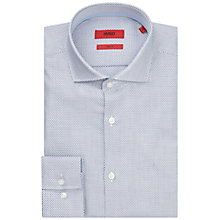 Buy HUGO by Hugo Boss C-Jerry Crosshair Print Slim Fit Shirt, White/Navy Online at johnlewis.com