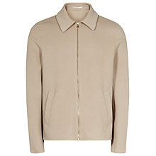 Buy Reiss Sylvester Contrast Zip Jacket, Oatmeal Online at johnlewis.com
