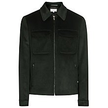 Buy Reiss Moscow Pocket Wool Jacket, Dark Green Online at johnlewis.com