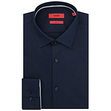 Buy HUGO by Hugo Boss C-Joey Plain Slim Fit Shirt, Navy Online at johnlewis.com