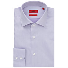 Buy HUGO by Hugo Boss C-Gordon Patchwork Regular Fit Shirt, Light Purple Online at johnlewis.com