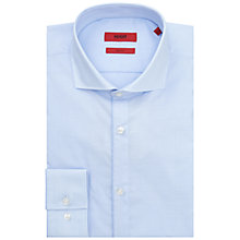Buy HUGO by Hugo Boss C-Jimmy Cutaway Collar Slim Fit Shirt, Light Blue Online at johnlewis.com