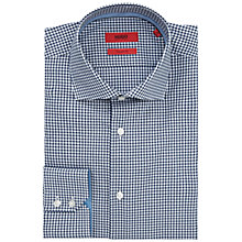 Buy HUGO by Hugo Boss C-Eraldi Gingham Regular Fit Shirt, Navy/White Online at johnlewis.com