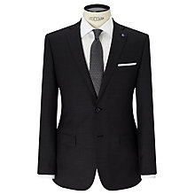 Buy Daniel Hechter Textured Tailored Fit Suit Jacket, Charcoal Online at johnlewis.com