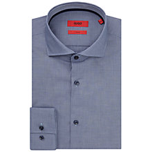 Buy HUGO by Hugo Boss C-Jerry Micro Check Slim Fit Shirt, Navy Online at johnlewis.com